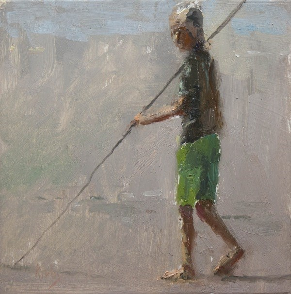 """Fishing Cane"" original fine art by Randall Cogburn"