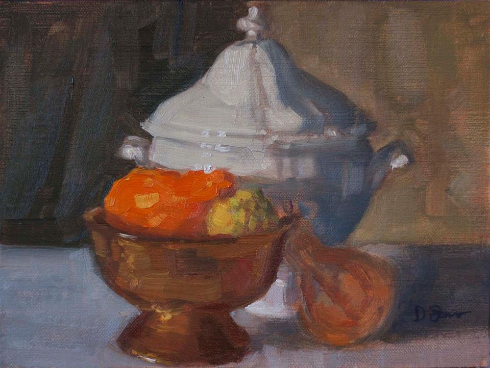 """Tureen with Copper Bowl"" original fine art by Deborah Savo"