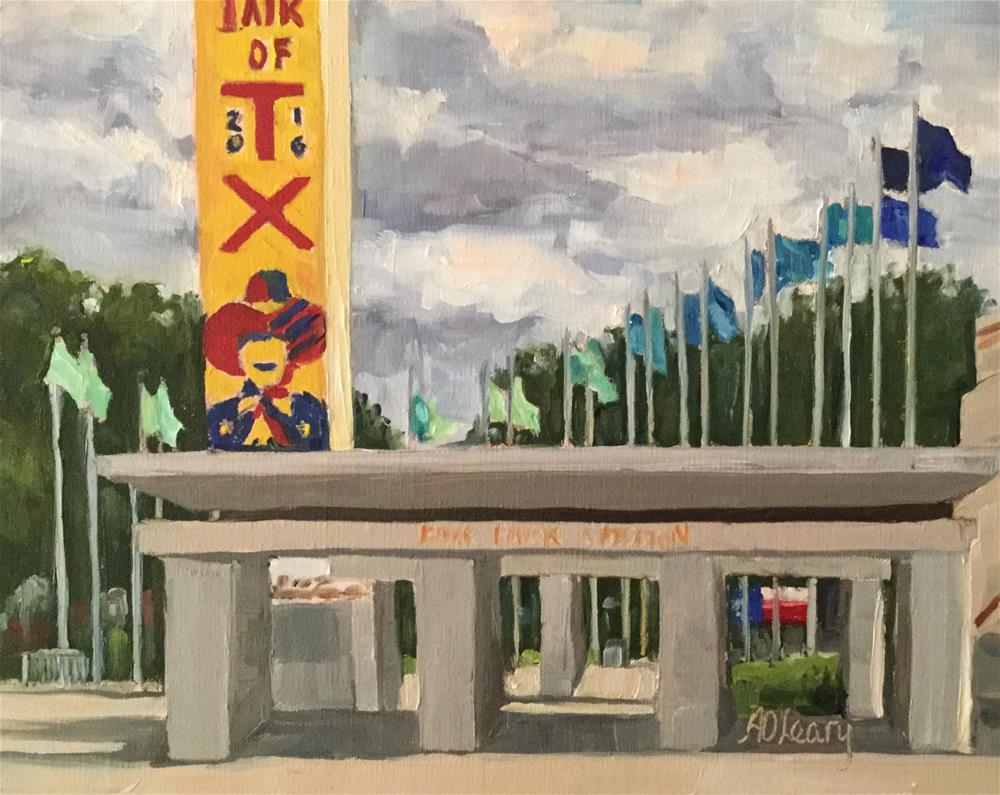 """State Fair Welcome"" original fine art by Alice O'Leary"