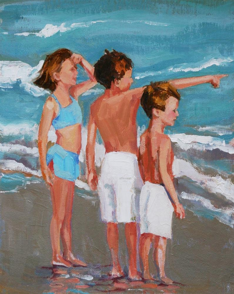 """lean ones"" original fine art by Carol Carmichael"