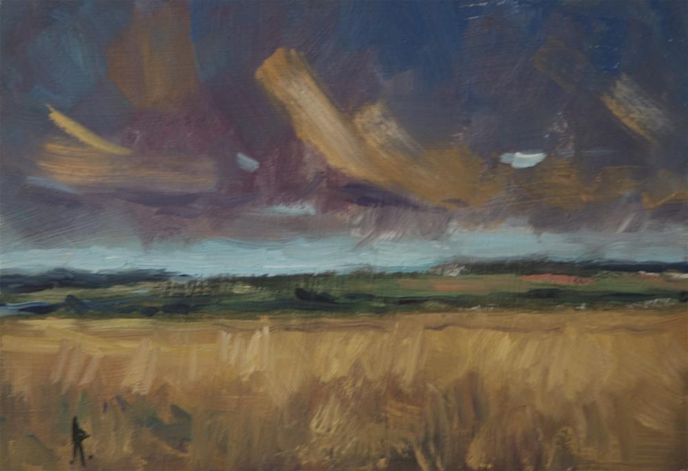 """Wheatfield"" original fine art by Andre Pallat"