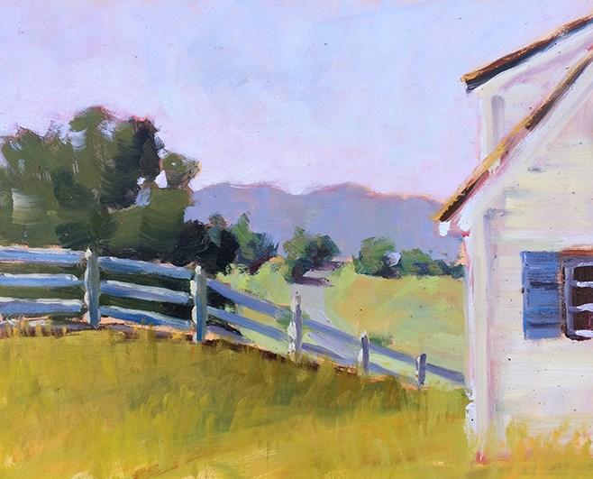 """Farmhouse View"" original fine art by Deborah Newman"