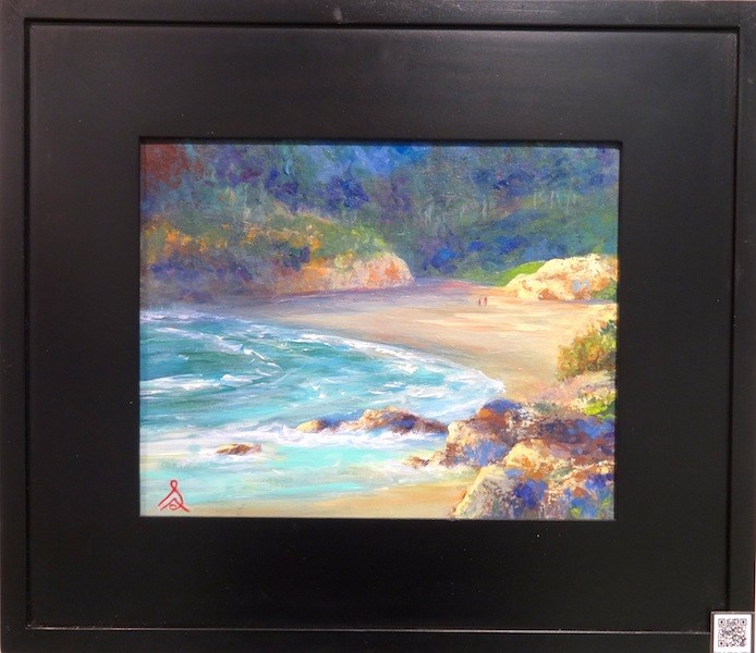 """1023 - Framed - Red Rock Cove"" original fine art by Sea Dean"