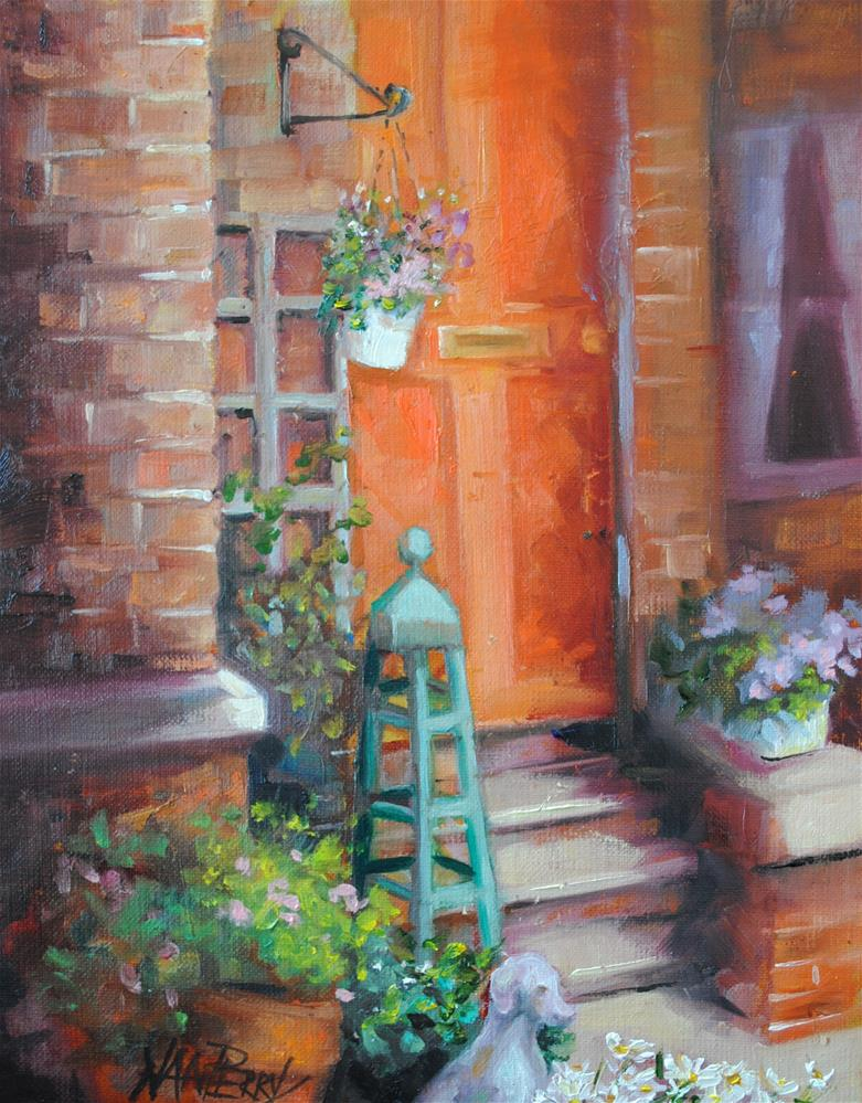 """Floral Entrance"" original fine art by Nan Perry"