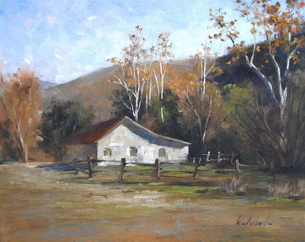 Morning in the Almaden Valley original fine art by Kelvin Lei