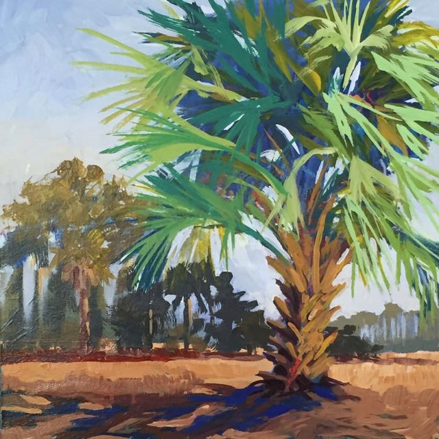 """Blue Palmetto"" original fine art by Lucinda Howe"