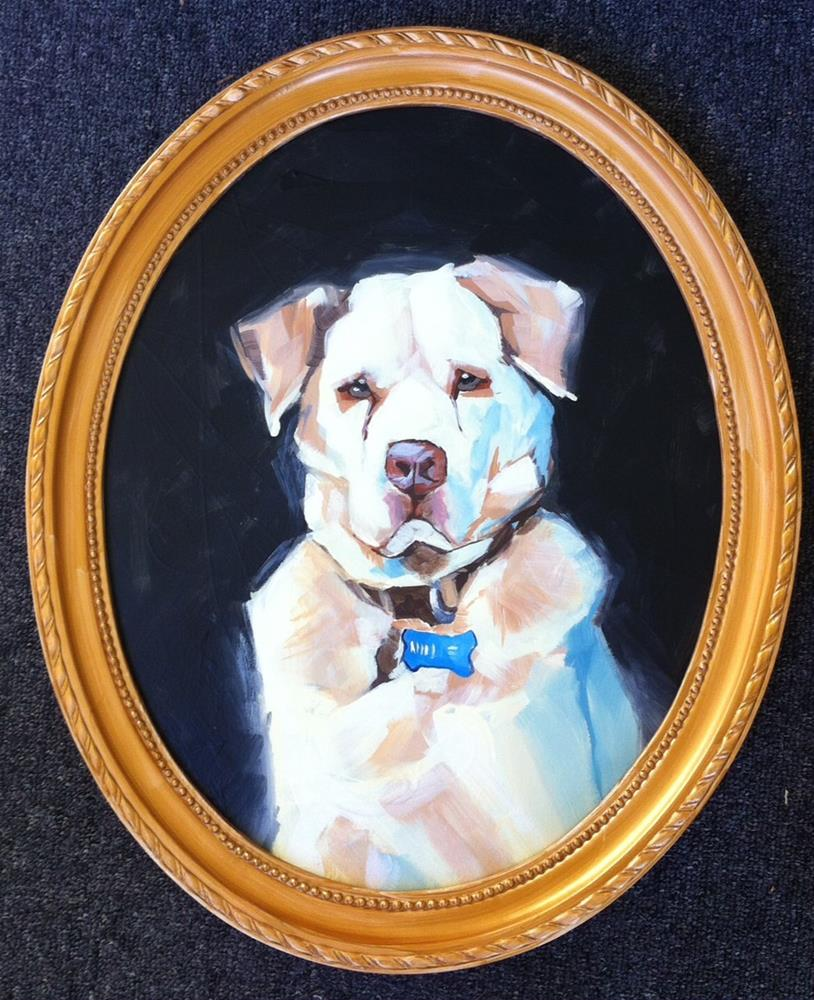 """Lord Hallie"" original fine art by Teddi Parker"