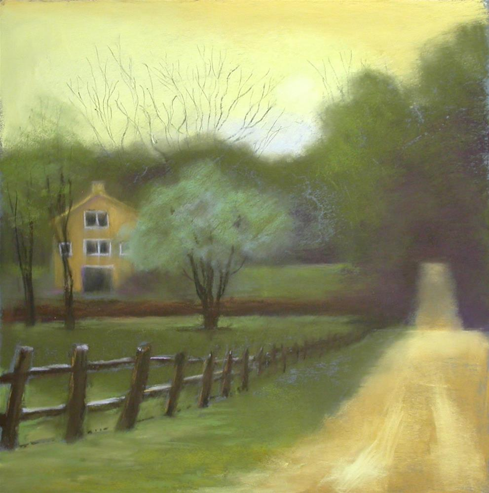 """Dusk On A Country Road"" original fine art by Judy Albright"