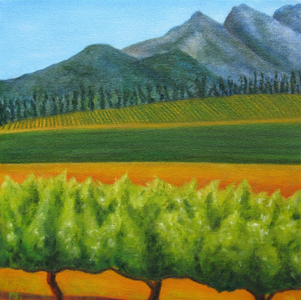 """Magical Stellenbosch IV"" original fine art by Pera Schillings"
