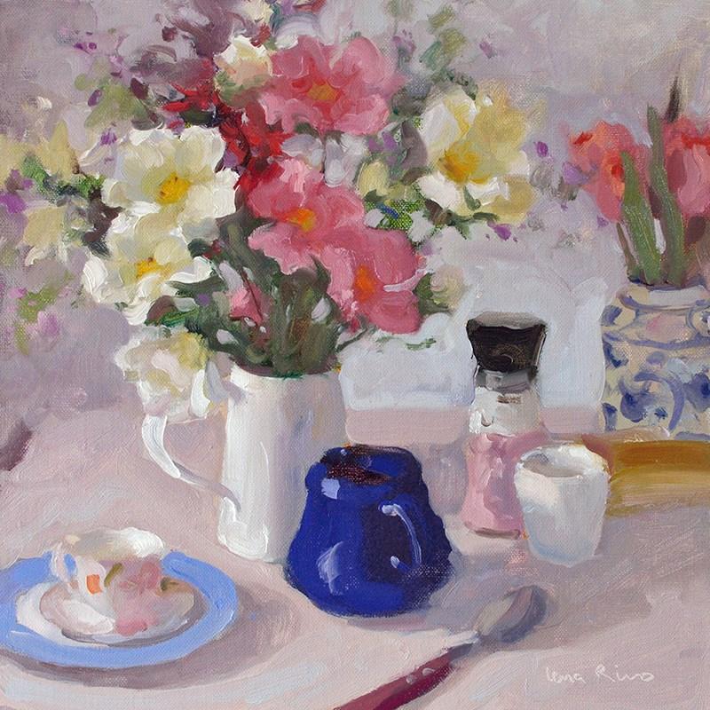 """""""Still Life in Soft Natural Light"""" original fine art by Lena  Rivo"""