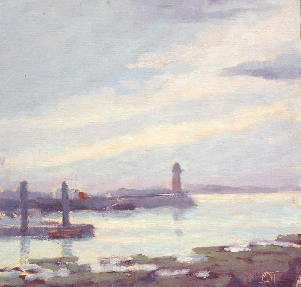 """Harbour view"" original fine art by Mo Teeuw"