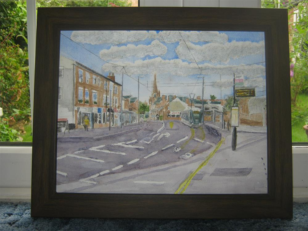 """Tram in Beeston Nottingham"" original fine art by Michelle Archer"