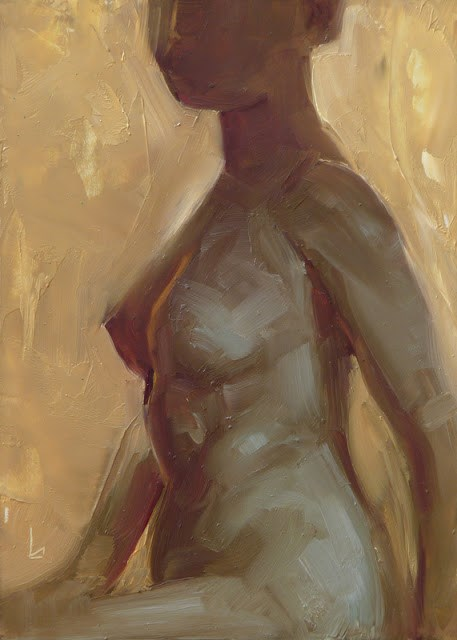 """Gold Nude"" original fine art by John Larriva"