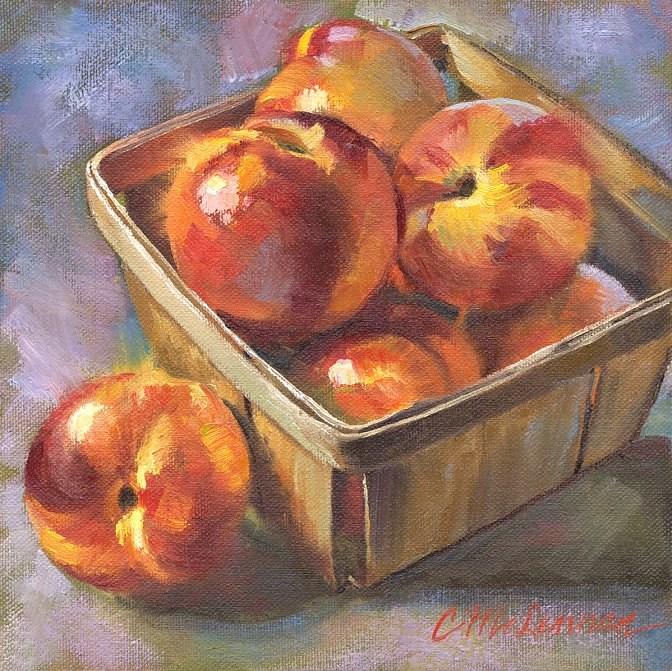 """""""Placer Peaches"""" original fine art by Connie McLennan"""