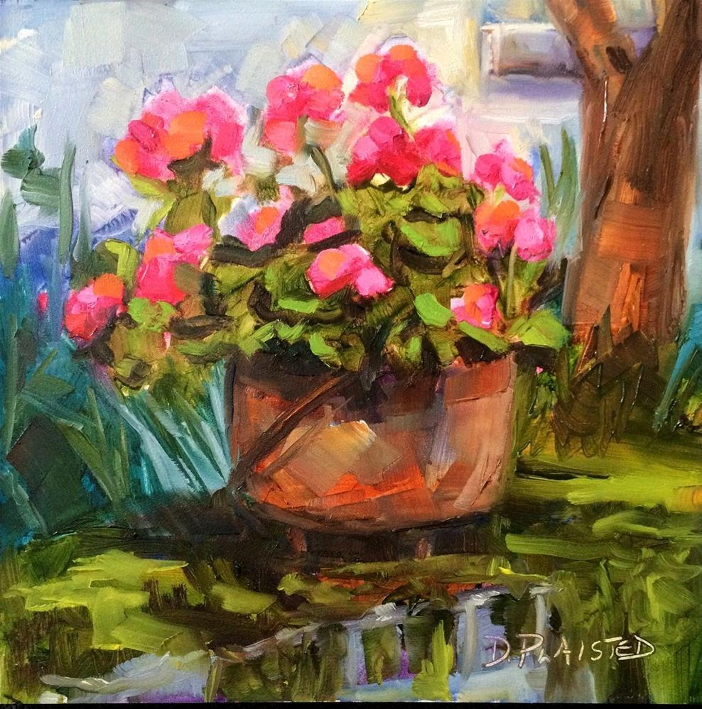 """Fraysinette Geraniums #2"" original fine art by Diane Plaisted"