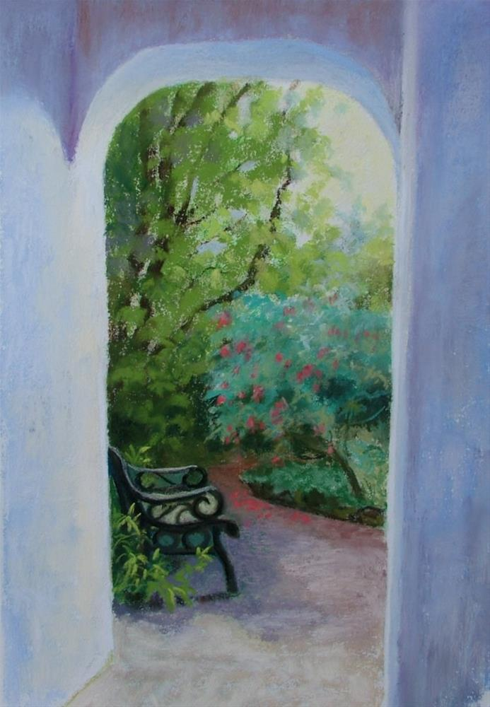 """Secluded Seat"" original fine art by Christine Derrick"