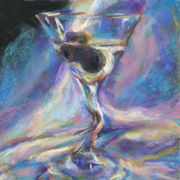 """""""CROOKED + DIRTY - 5 X 5 PASTEL - SOLD"""" original fine art by Susan Roden"""