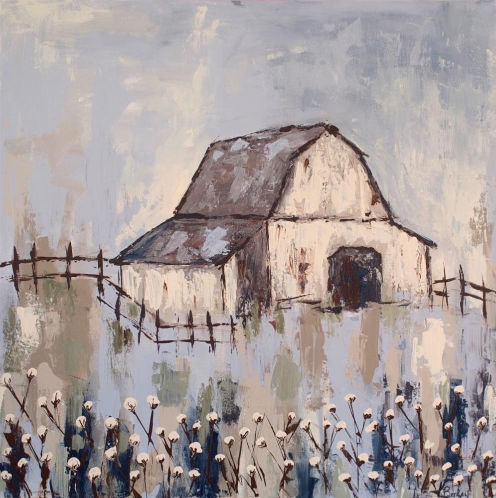 """Cotton Barn"" original fine art by Kelly Berkey"