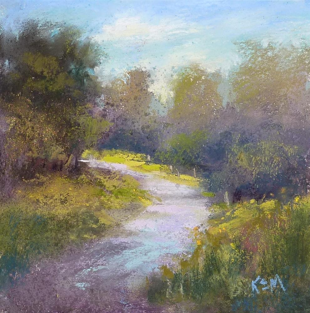 """A Compact Plein Air Set Up for Pastel"" original fine art by Karen Margulis"