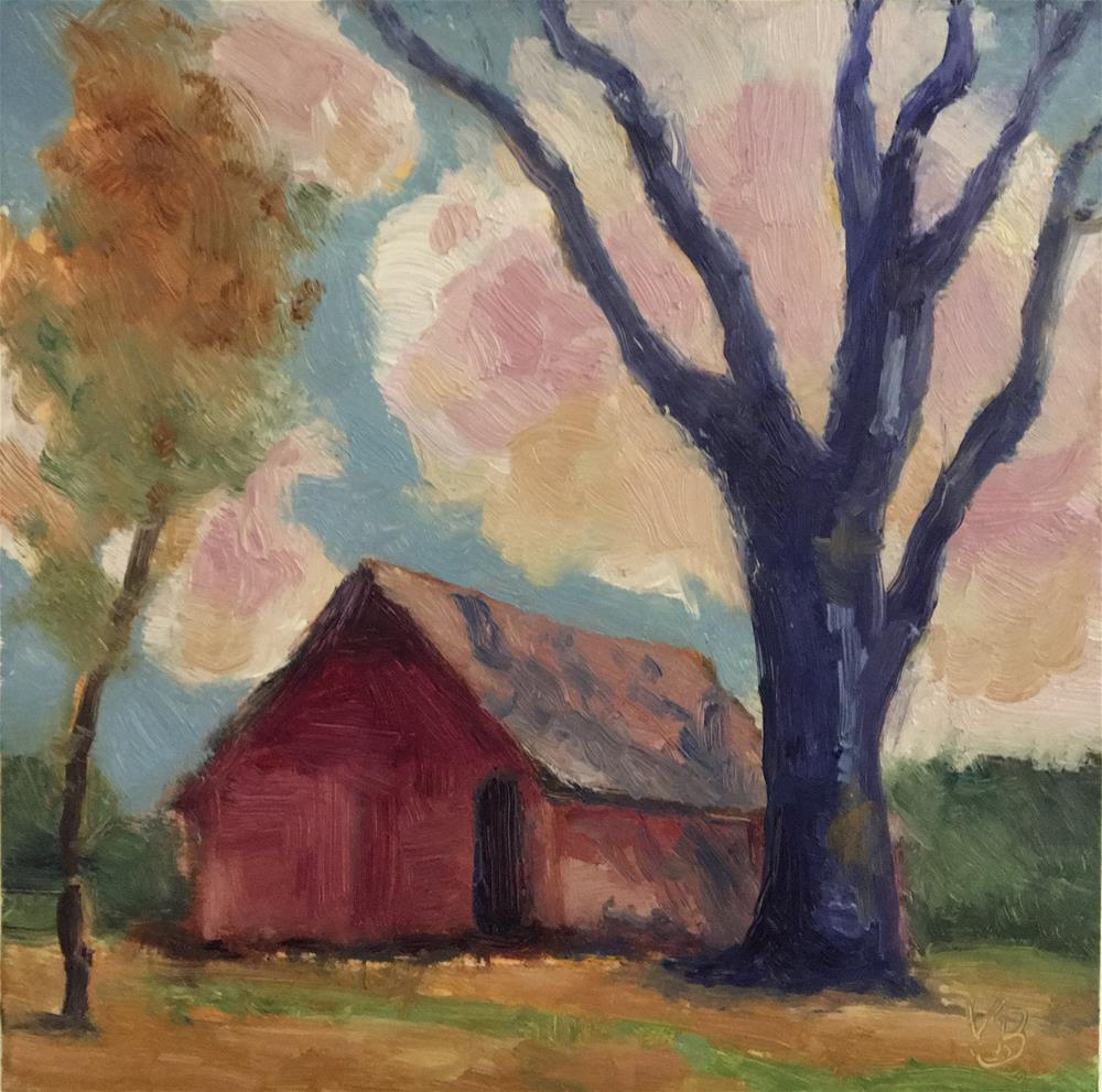 """The Barn"" original fine art by Victoria  Biedron"