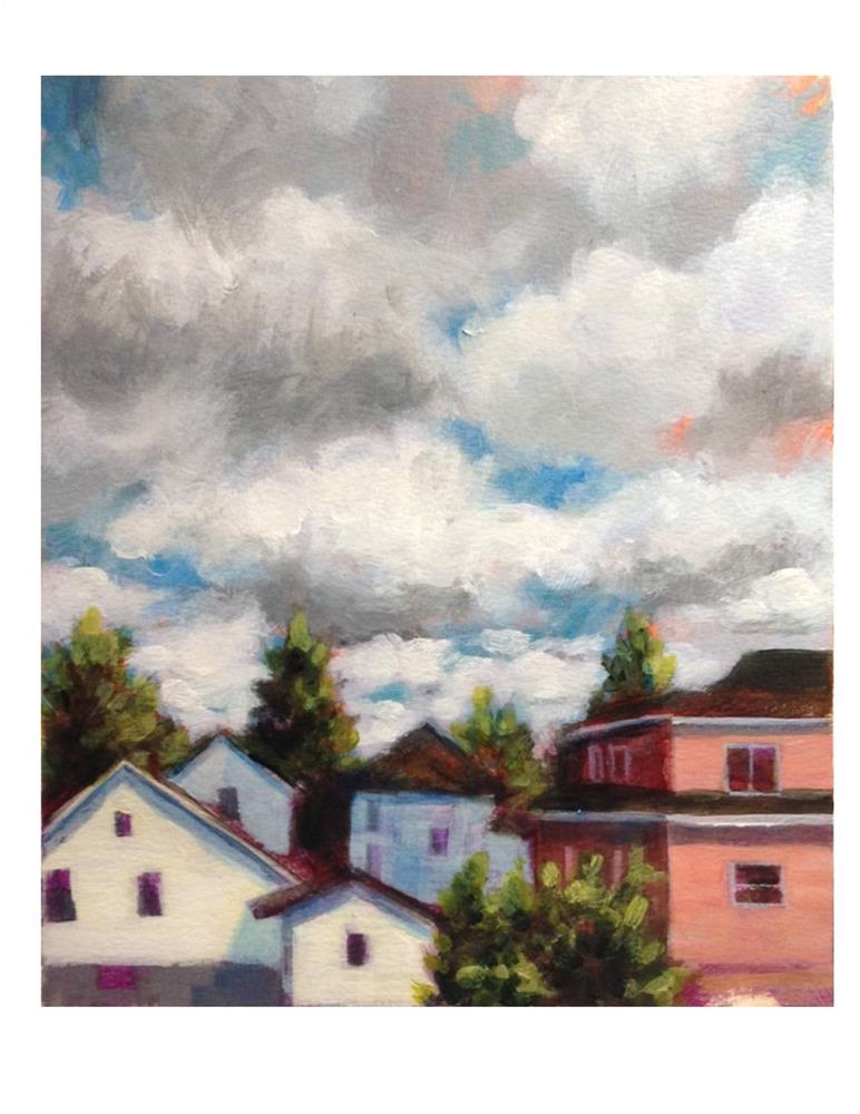 """Clouds And Houses"" original fine art by Suzanne Woodward"