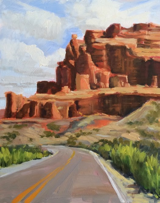 """Road to Red Rock"" original fine art by Deborah Newman"
