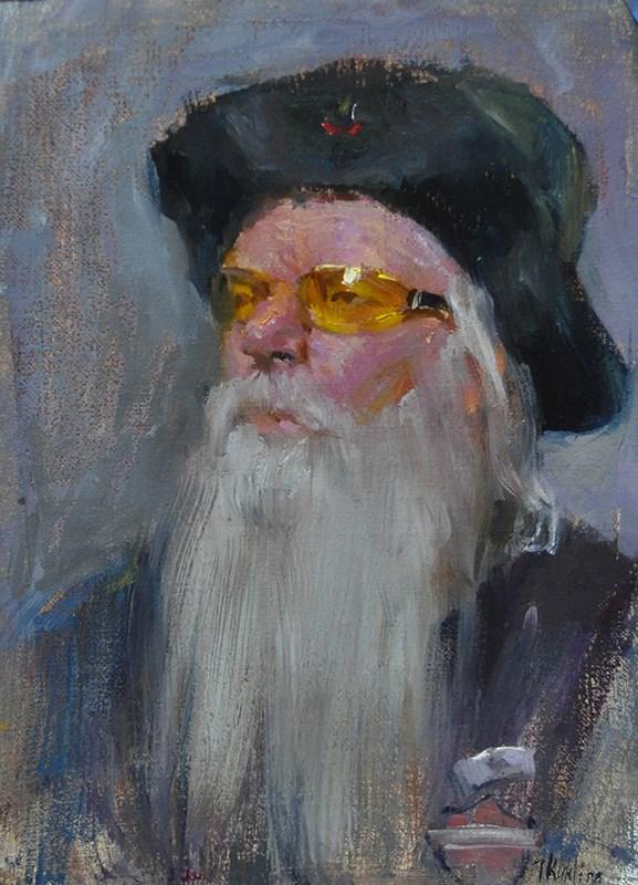 """yellow glasses"" original fine art by Taisia Kuklina"