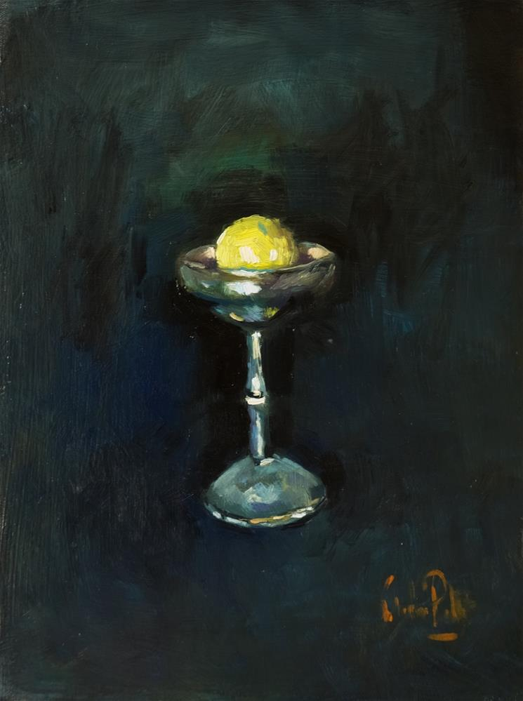 """Goblet with Lemon"" original fine art by Andre Pallat"