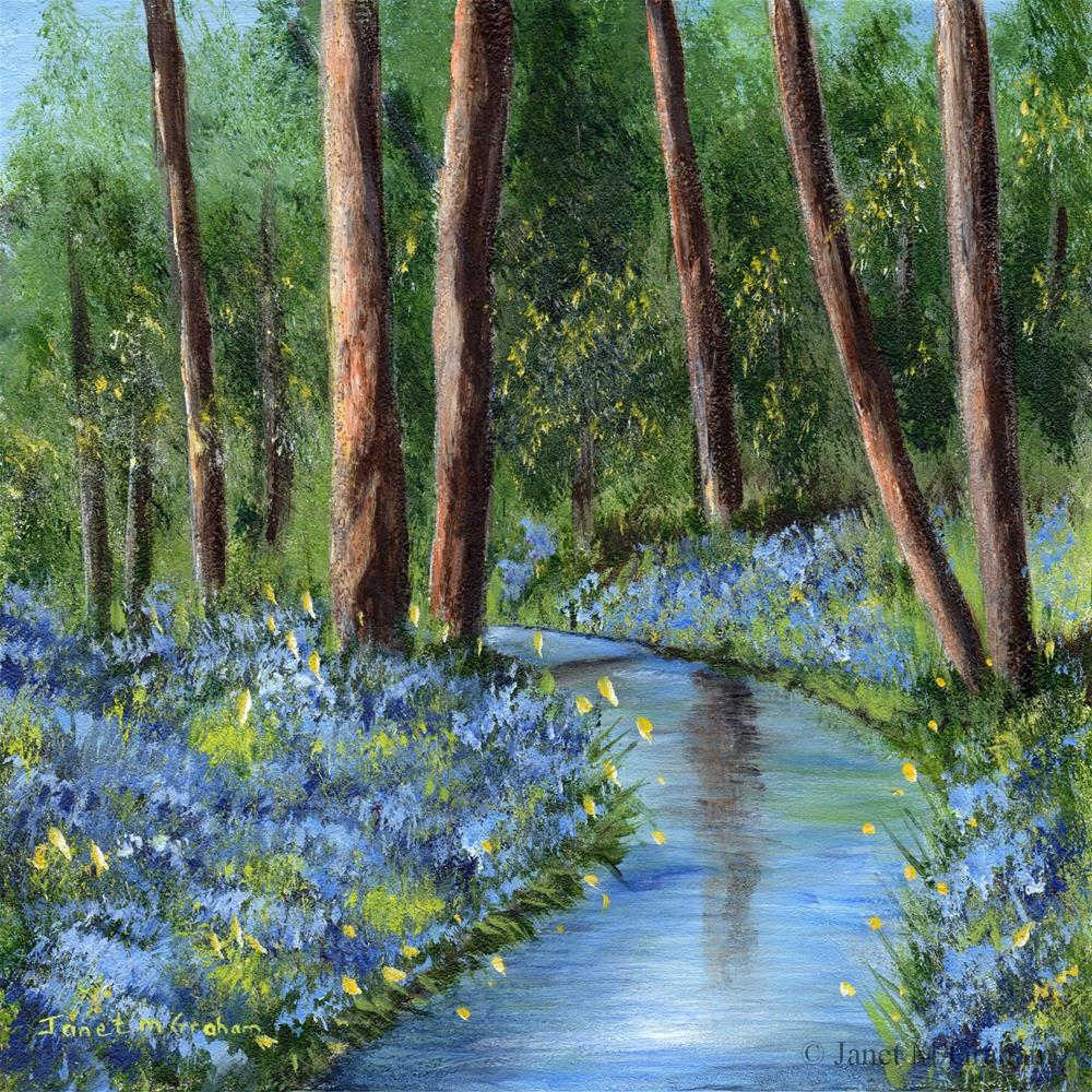 """Bluebell Glade"" original fine art by Janet Graham"