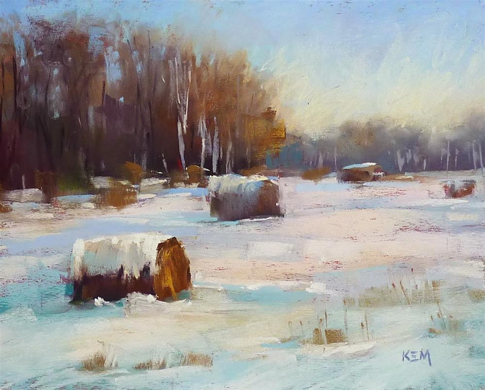 """How to Paint a Winter Landscape...New Pastel DEMO Download"" original fine art by Karen Margulis"