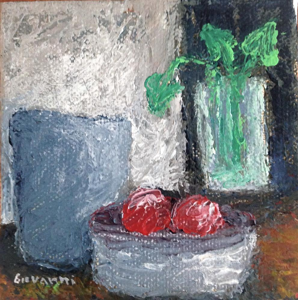 """Red apples"" original fine art by Giovanni Antunez"
