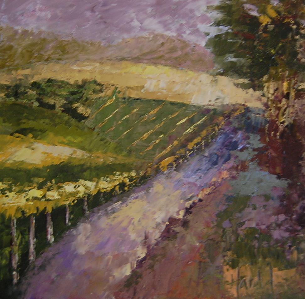 """White Rose Estate View"" original fine art by Deborah Harold"
