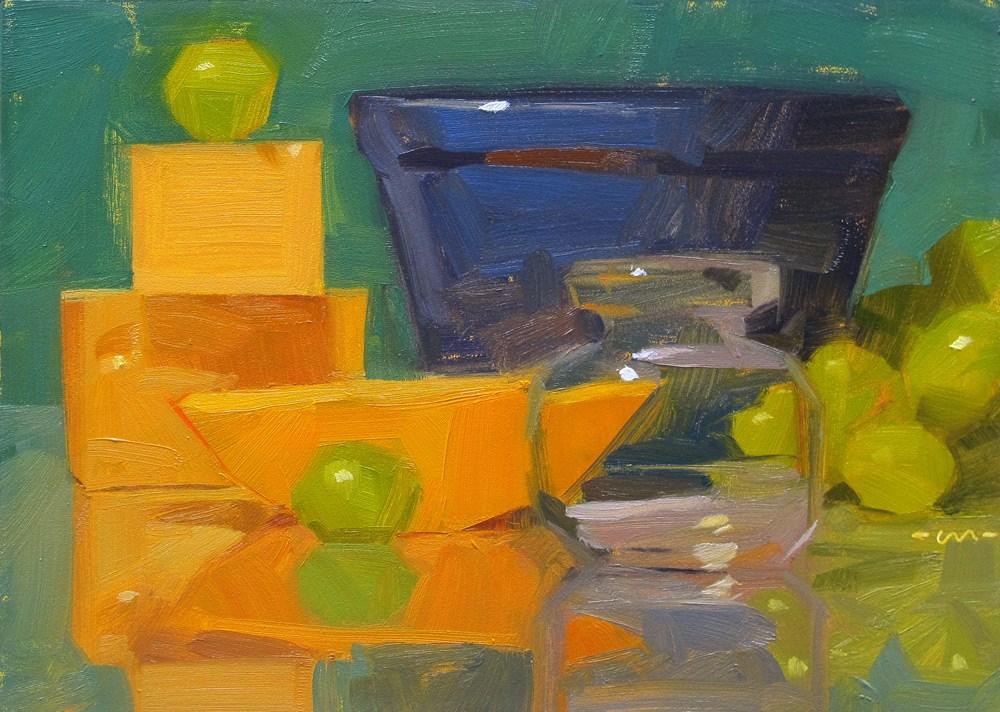 """Swiss and Gouda"" original fine art by Carol Marine"