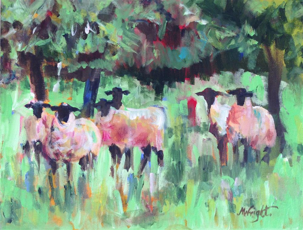 """""""Pasture Party"""" original fine art by Molly Wright"""