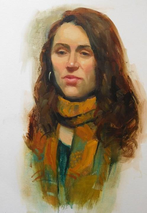 """A few portraits"" original fine art by Kathy Weber"