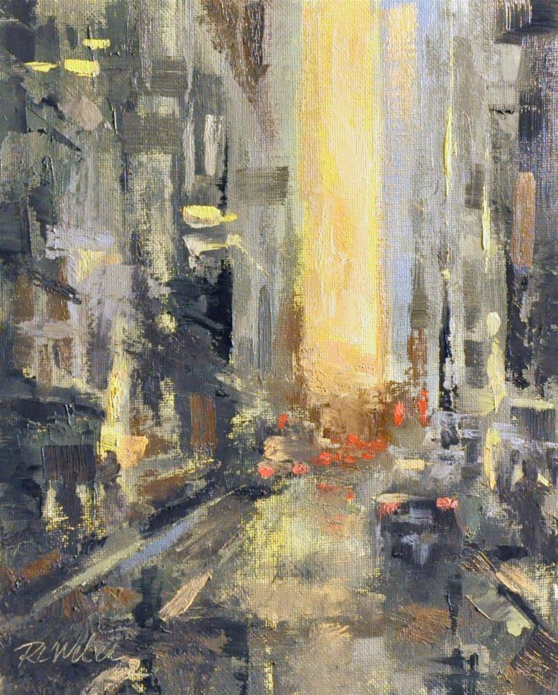 """Cityscape Light"" original fine art by Rl Weber"