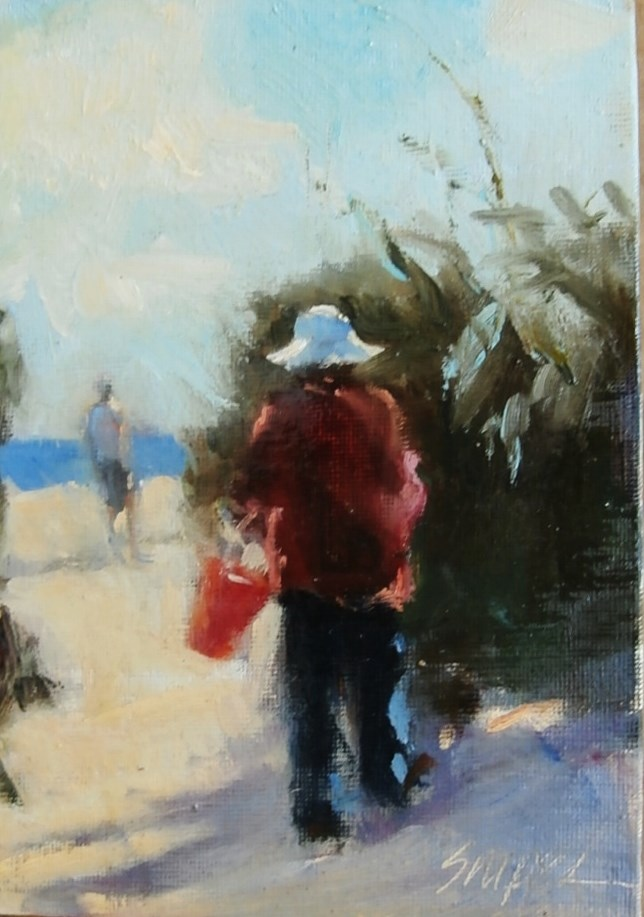 """The Path to the Beach, Edisto Island"" original fine art by Connie Snipes"