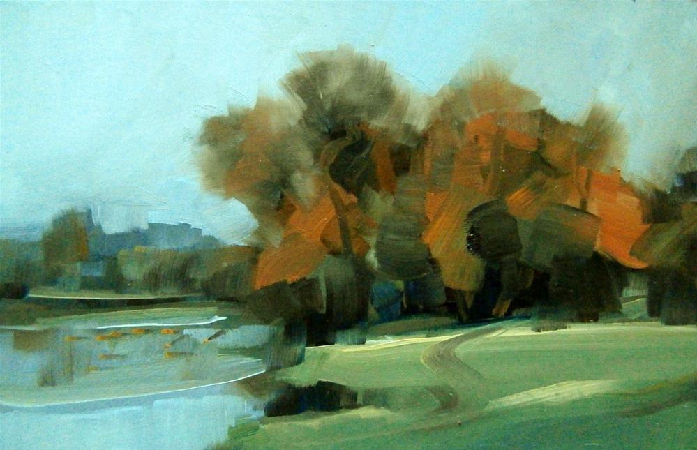 """""""'Warm Willows'"""" original fine art by Anne Wood"""