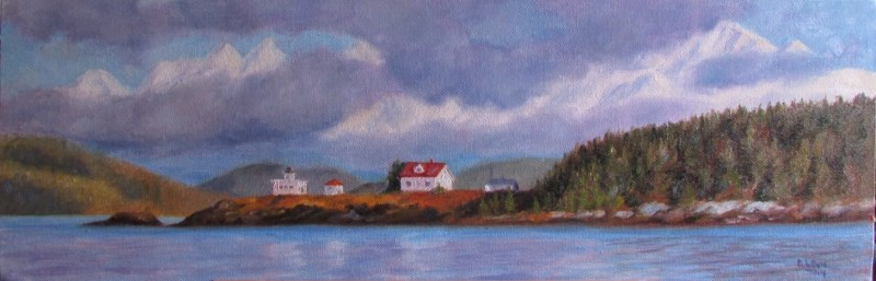 """Point Retreat Panorama"" original fine art by Christine Lewis"