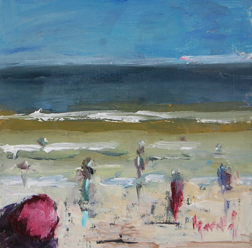 """Abstract On The Beach"" original fine art by Deborah Harold"