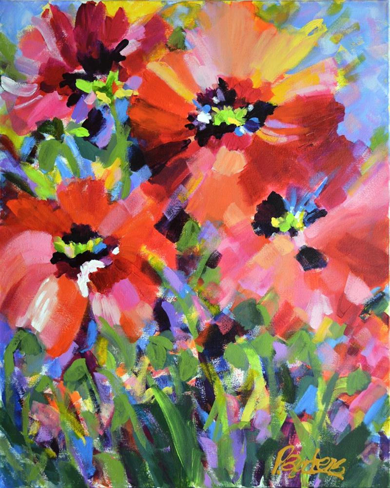 """Wildflowers and Poppies"" original fine art by Pamela Gatens"