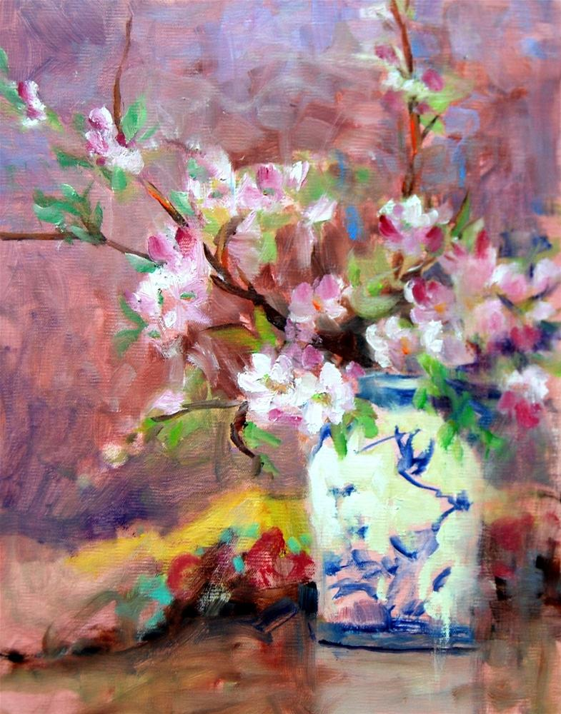 """""""Blossom Study"""" original fine art by Julie Ford Oliver"""