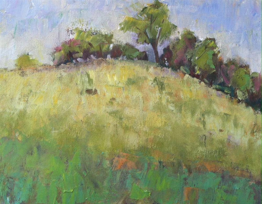 """""""Sunny Day-Bell's Lane"""" original fine art by Katharine March"""