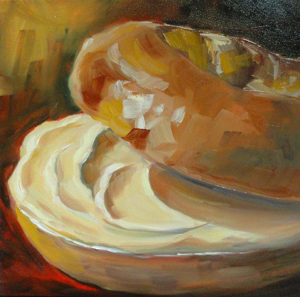 """""""Bagel & Creamcheese"""" original fine art by Cietha Wilson"""