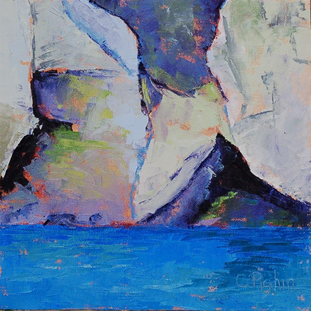 """San Diego Cliffs"" original fine art by Carol Pighin"