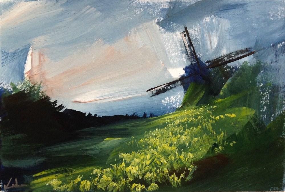 """""""A Fairer Season"""" original fine art by David Kuhn"""