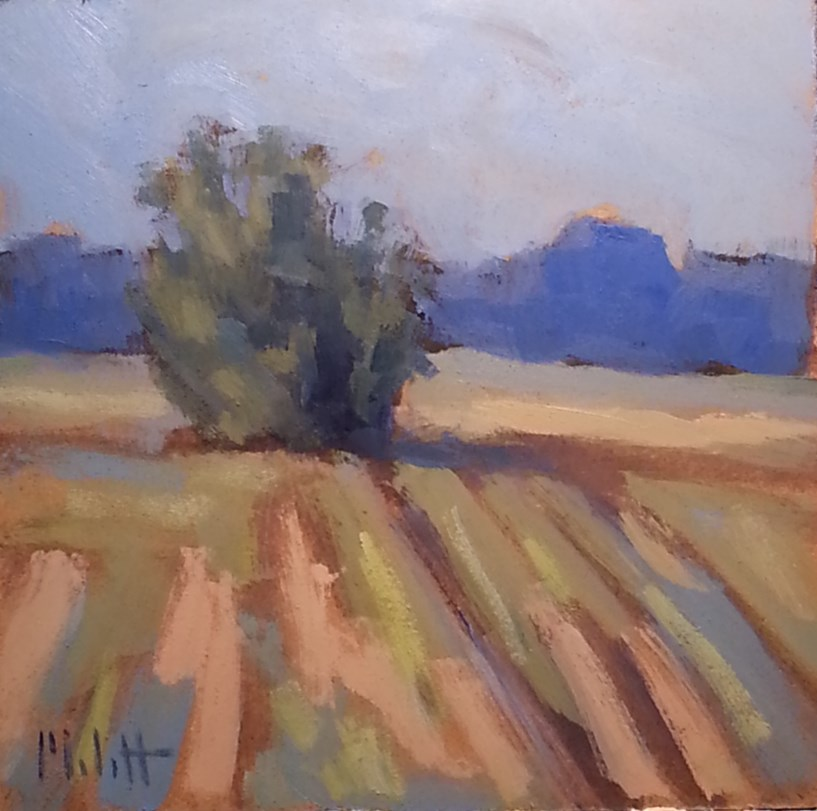 """Quiet Morning Contemporary Rural Impressionism Original Daily Oil Painting"" original fine art by Heidi Malott"