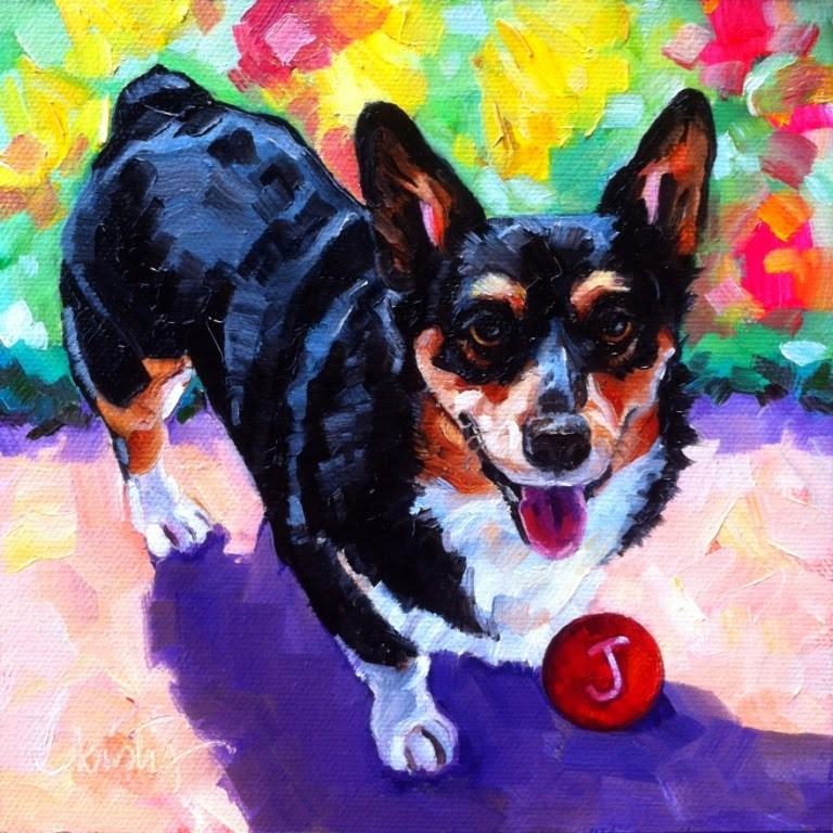 """JAKE"" original fine art by Kristy Tracy"