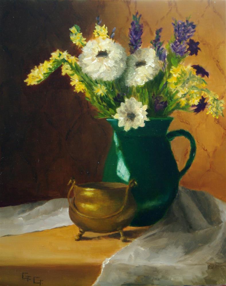 """Wildflowers"" original fine art by G. G. Slockett"