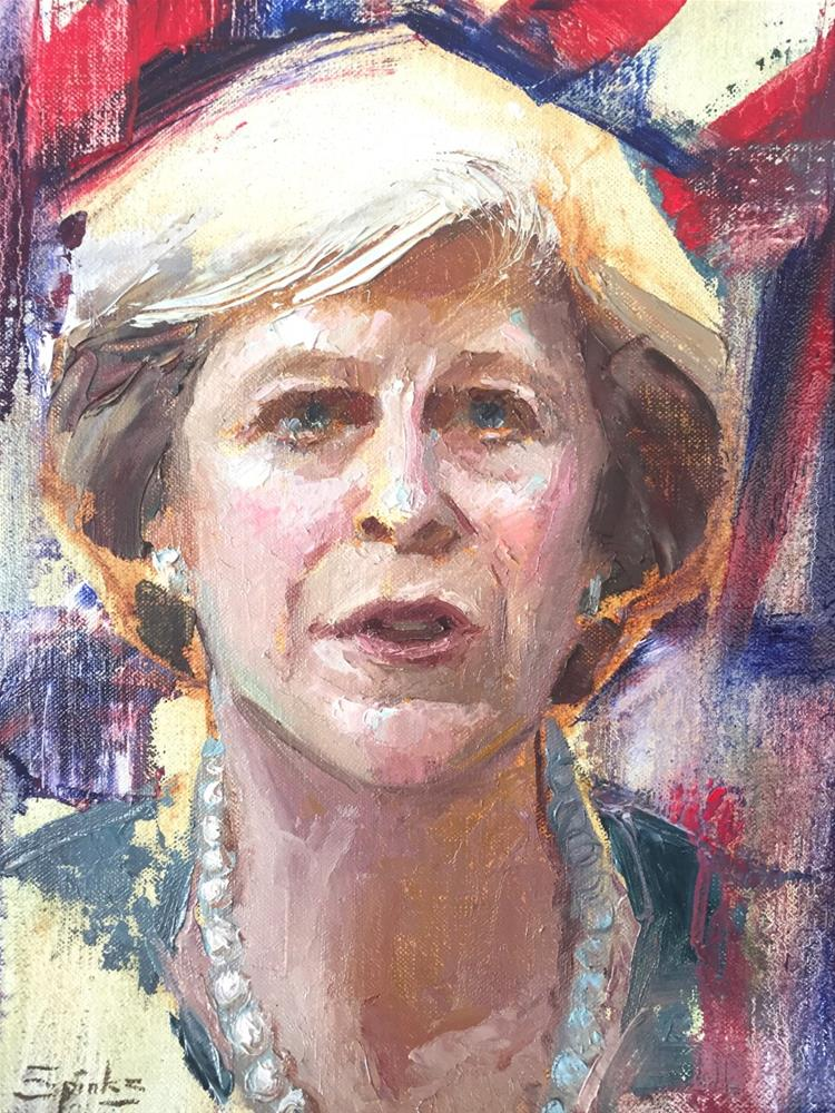 """Brexit Means Brexit - Theresa May"" original fine art by Johanna Spinks"